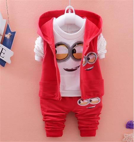 Girls Boys Minion Suits