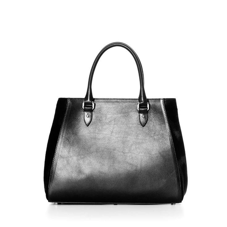 DECADENT 513 New handbag with strap Pony black