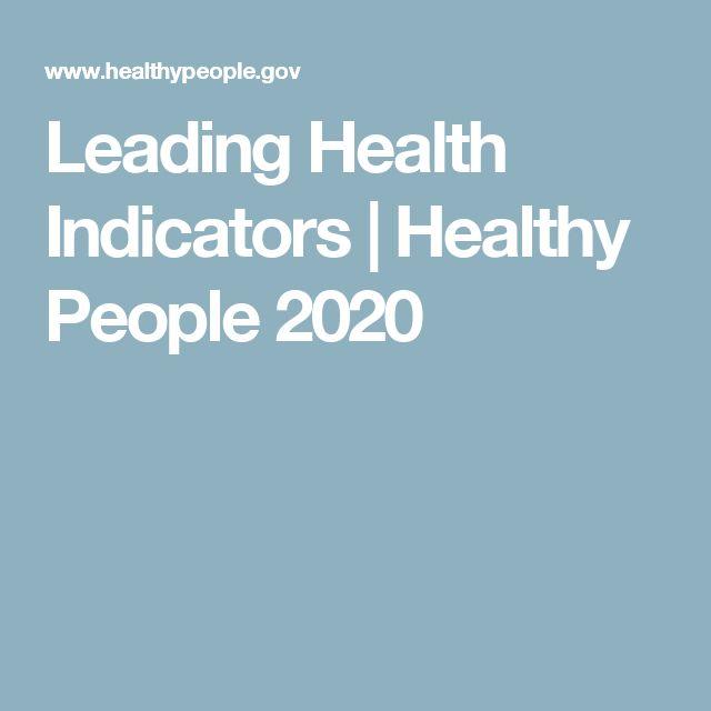 Leading Health Indicators | Healthy People 2020