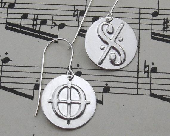 Dal Segno and Coda Music Symbol Sterling by nicholasandfelice, $ 20.00