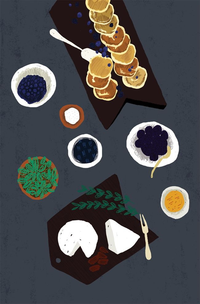 table,food illustration,party,dinner,colors,illustrator,decoration,food art