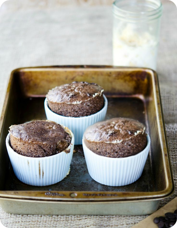 Dark Chocolate Souffle with Honey Almond Cream - my recipe for MasterChef South Africa Food sponsor , Woolworths SA.