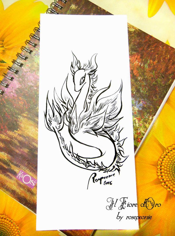 Drago Spirito del Fuoco. Disegno Haiku, illustrazione fantasy originale a inchiostro su carta alta qualità, drago mito collezione fiamma di ilFioredOro su Etsy https://www.etsy.com/it/listing/293644137/drago-spirito-del-fuoco-disegno-haiku
