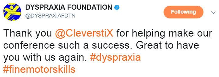 Dyspraxia Foundation Tweet