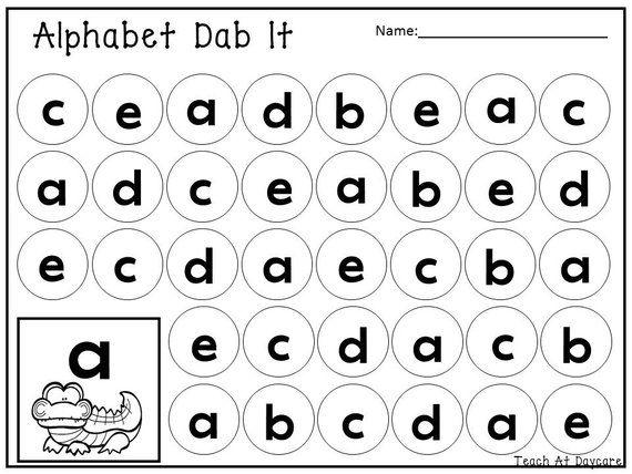 26 Printable Alphabet Lowercase Dab It Worksheets Etsy In 2021 Alphabet Worksheets Preschool Preschool Alphabet Printables Alphabet Printables Printable learning alphabet worksheets