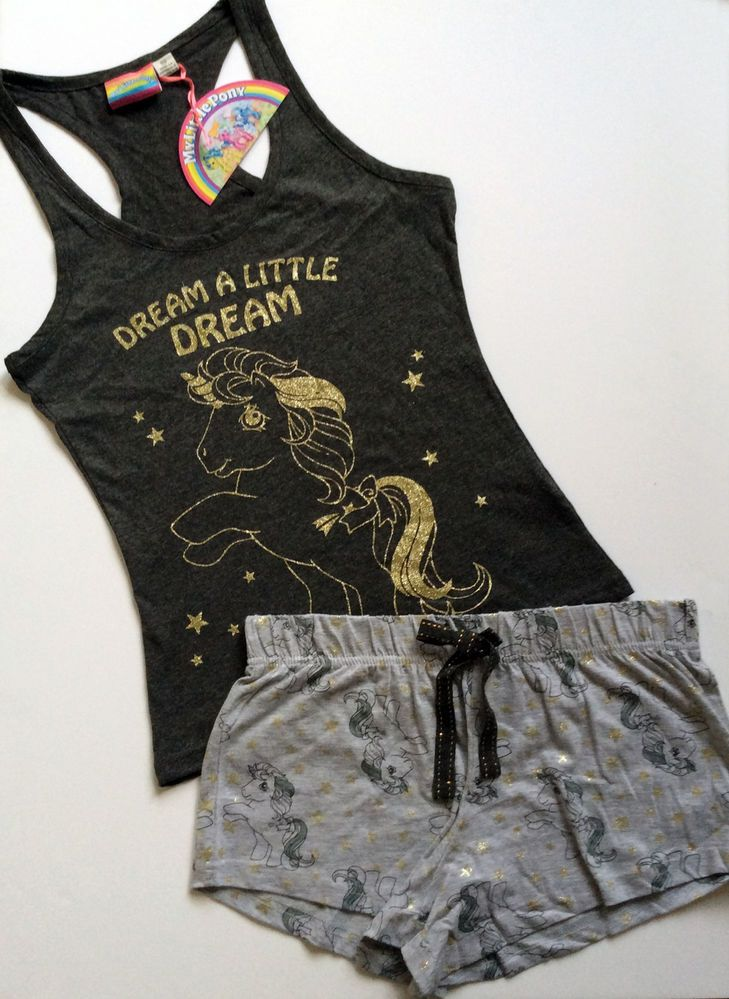Ladies MY LITTLE PONY Glitter Vest & Shorts Pyjama Set PJ's from Primark #Primark #PyjamaSets #Everyday