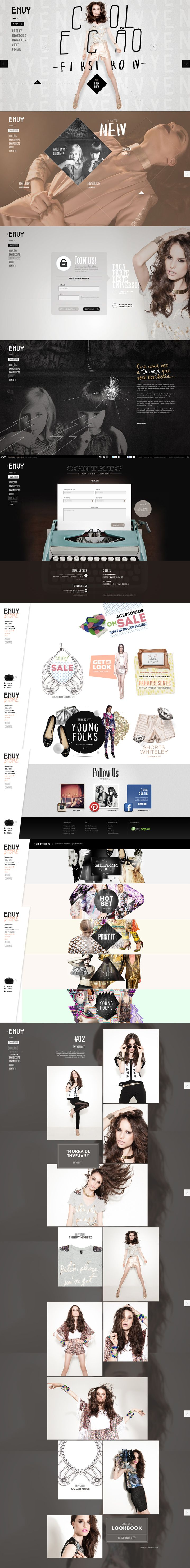 Winner 29 September 2013 Envy First Row Collection by Pianofuzz Design Studio http://www.cssdesignawards.com/css-web-design-award-winner.php?id=23053 ENVY reflects the vanity and feminine desire. Made for irreverent and authentic women. #Scroll #Photographic #Design #WebAward