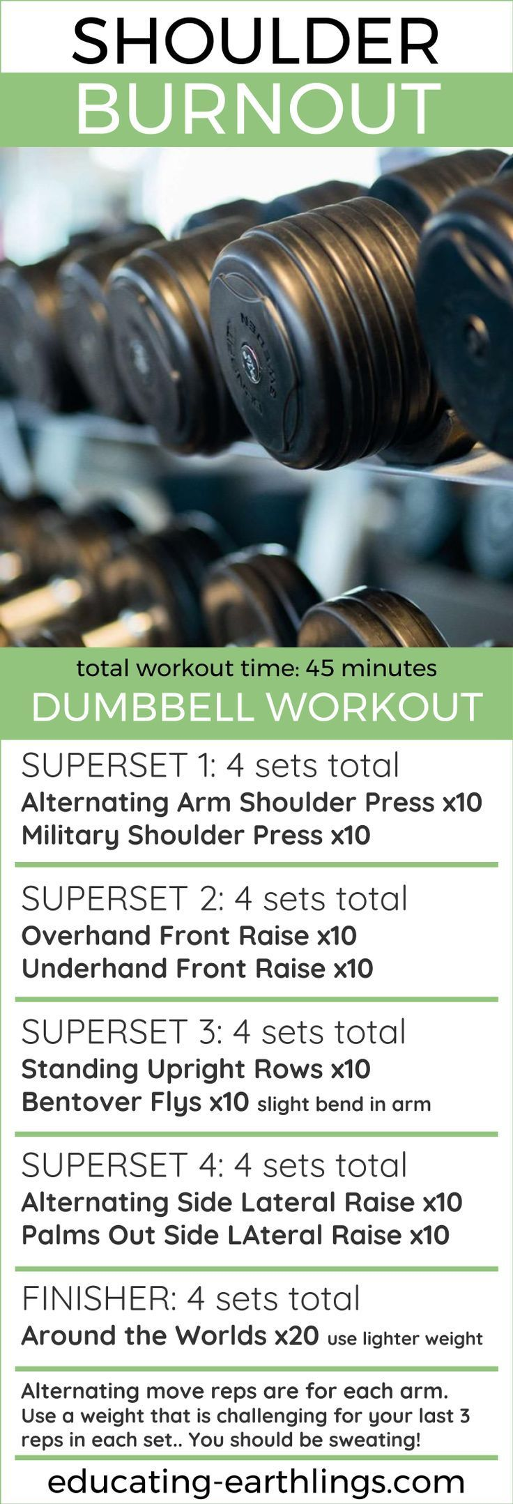 Shoulder Burnout - Dumbbell Workout, women's fitness, at home workout, strength training, weight lifting for women, weight training, weightlifting workout, vegan fitness, online personal training, free workouts
