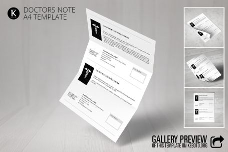 Doctors Note A4 Template - http://luvly.co/items/5266/Doctors-Note-A4-Template