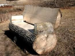 Image result for how to make rustic log benches