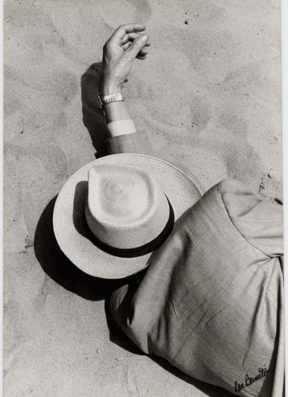 Lou Bernstein - Man in Suit, Panama Hat, Sleeping on Beach, 1957: Photos, Panama Hats, Men In Suits, 1957, White, Man In Suit, Beaches Best Friends, Travel Style, Lou Bernstein
