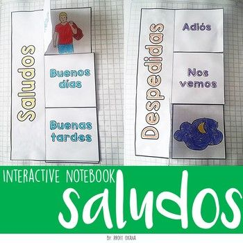 This INTERACTIVE NOTEBOOK activity is a great way to teach spanish to our students. You will work with GREETINGS AND GOODBYES. Includes the explanation of every way to say hello and goodbye. Improve their vocabulary and writing skills. Esta actividad para el cuaderno interactivo de Español es una forma genial de enseñar