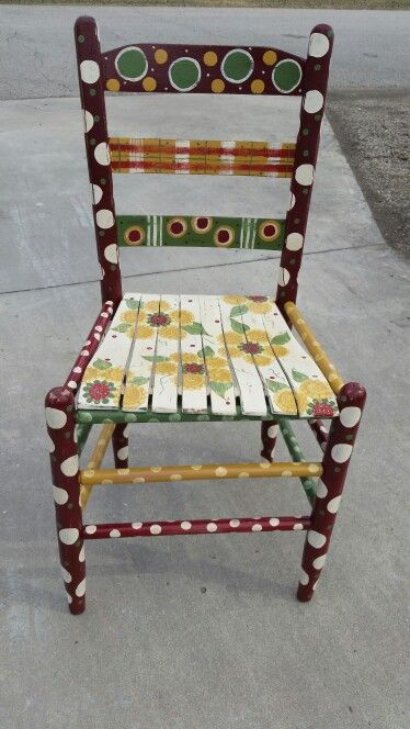 Painted antique chair