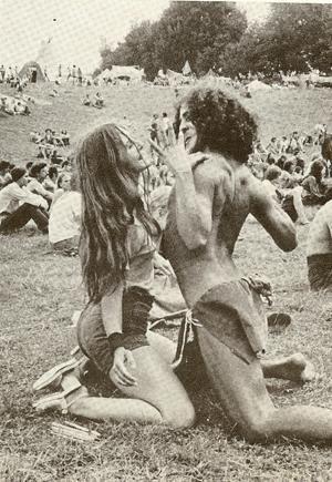 joan bryant and fantuzzi at woodstock - 1969