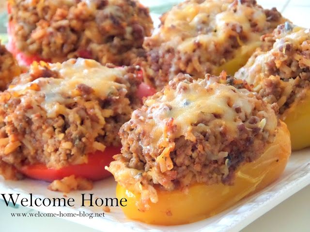 Welcome Home Blog: Stuffed Peppers