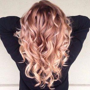 cheveux rose doré