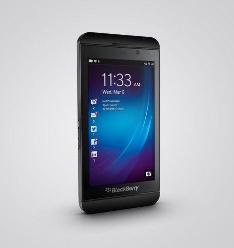 BlackBerry Z10 con sistema operativo Blackberry 10