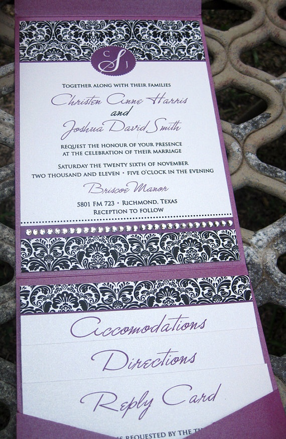 sample wedding invitation email wording to colleagues%0A Items similar to Damask Wedding Invitation  SAMPLE on Etsy