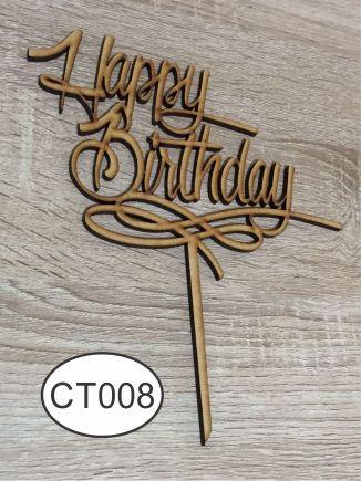 Cake Topper Happy Birthday. Raw MDF. Pedidos/InquirIes to: crearcjs@gmail.com                                                                                                                                                                                 Más