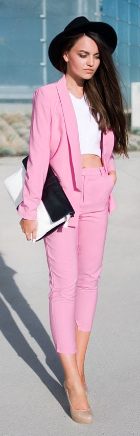 Love the suit... Hate her top and shoes... But the suit is super cute