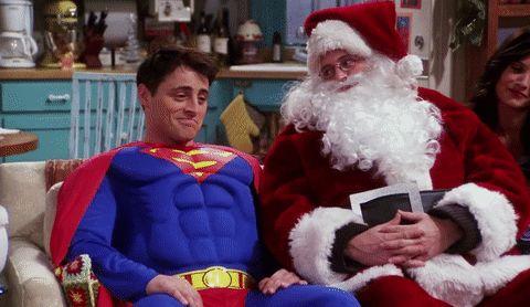 New party member! Tags: friends matthew perry chandler bing joey tribbiani friends tv matt le blanc christmas episode