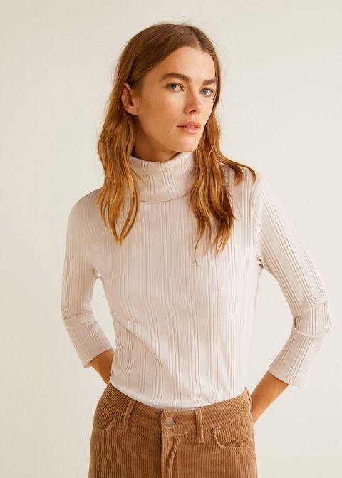 520606e49f Jersey cuello vuelto - Camisetas y tops de Mujer