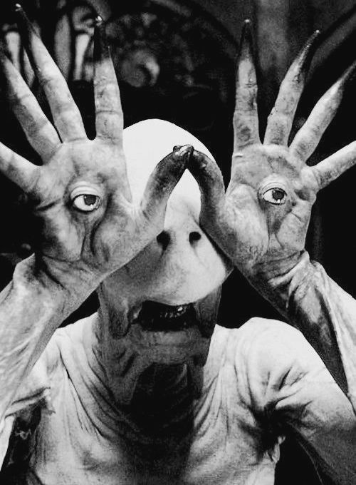 Pan's Labyrinth. This guy scared the almost everything out of me when we went to see this at the movies. A lot of it was his movements, but even this picture freaks me out...... (though I admit in B he's a little less intimidating)