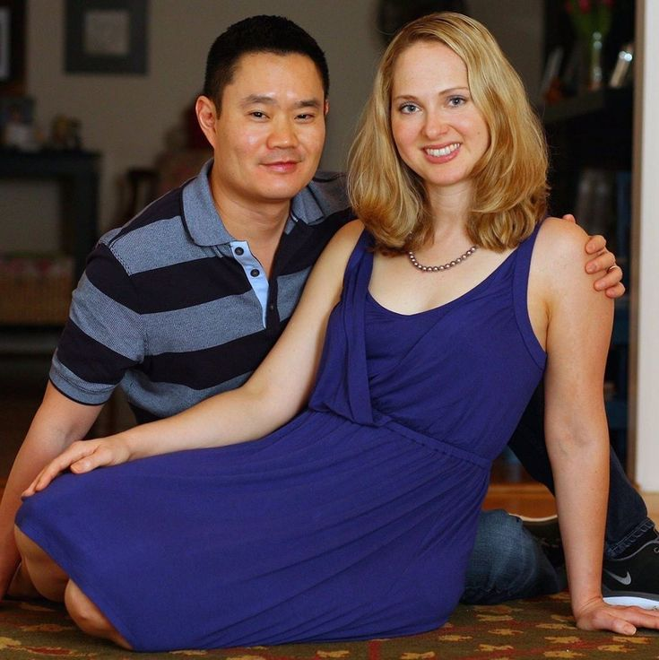 Asian Man With His Beautiful White Wife Amwf Amww  -8561