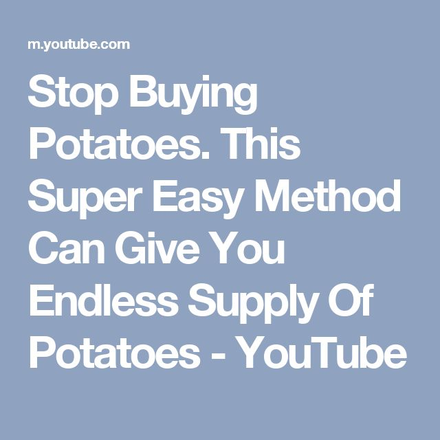 Stop Buying Potatoes. This Super Easy Method Can Give You Endless Supply Of Potatoes - YouTube