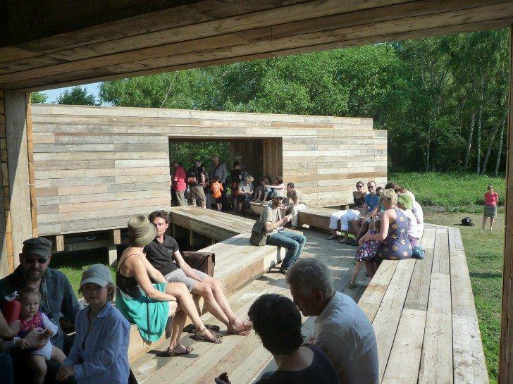 Reclaimed Wood Hostel Bridge Awaits The Return Of the Emscher River In Germany | Inhabitat - Green Design, Innovation, Architecture, Green Building
