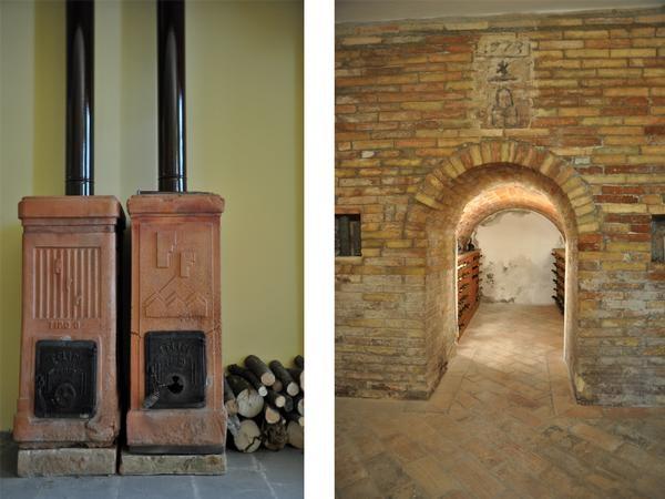Stufe d'epoca e cantina dei vini @ Villa Idillio Urbino