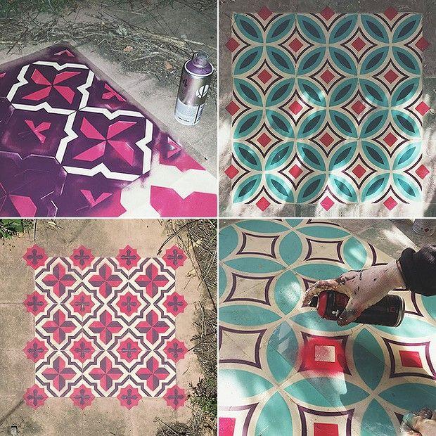 Javier aposta na mistura de cores e de formas, criando padrões geométricos no chão (Foto: Divulgação)