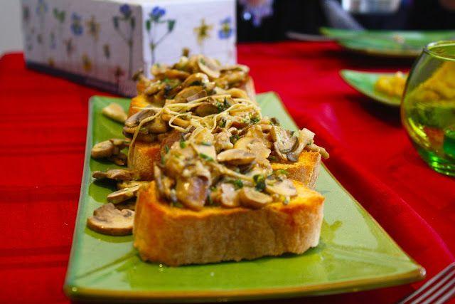 Wild Mushroom and Thyme Bruschetta