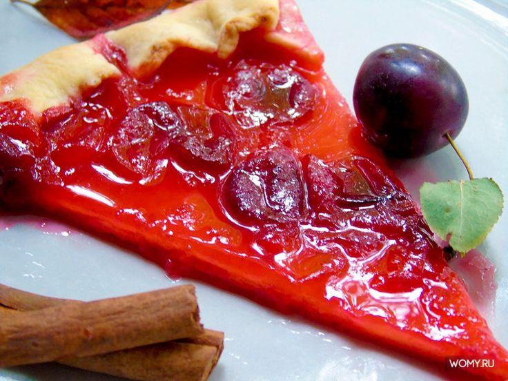 Рецепт пирога с красной алычой на творожном тесте
