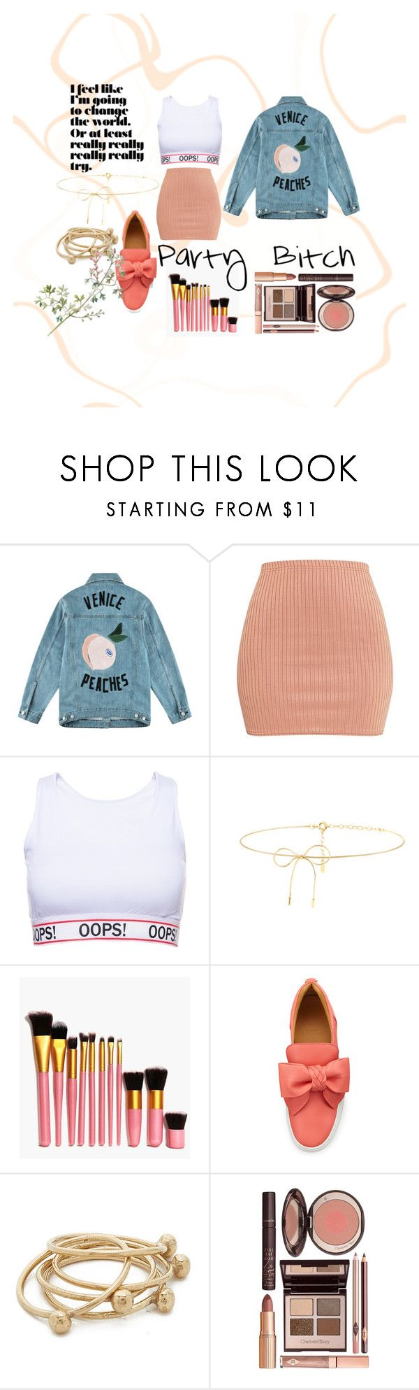 """""""Untitled #39"""" by heartyrose ❤ liked on Polyvore featuring Être Cécile, Lilou, Boohoo, BUSCEMI, Jacqueline Rose and Charlotte Tilbury"""