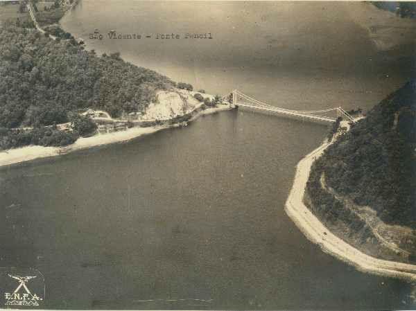 Ponte Pênsil - Tombo: 2582 - SÃO VICENTE (Aerofotos Oblíquas 1939/1940)