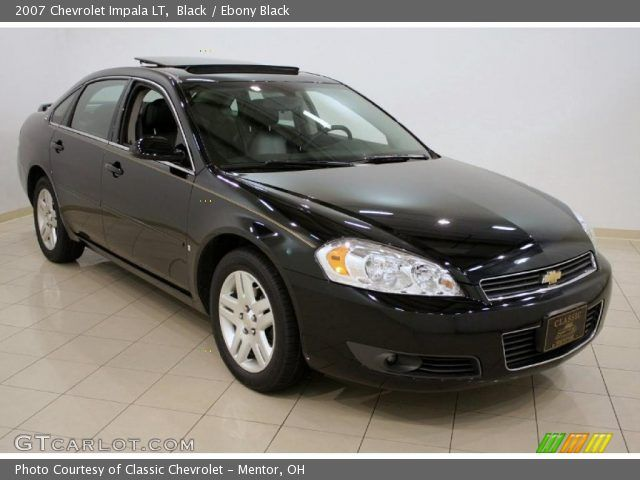 2007+Chevrolet+impala+lt+black+on+black | Black 2007 Chevrolet Impala LT with Ebony Black interior