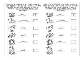 Rosangela.Aprendizagem: Imagens/Atividades/Alfabetização.Iniciação de Leitura e Escrita