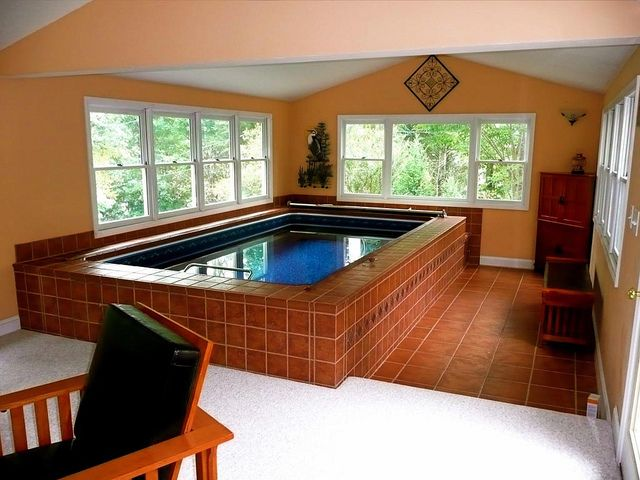 12 best swim spa pool rooms images on pinterest endless for Swim spa in garage