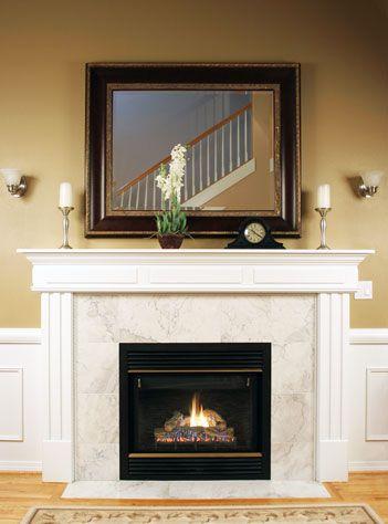 Custom size mirror over fireplace