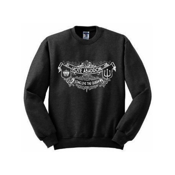 Vote Abaddon Sweatshirt S-2xl Supernatural Joke Design Winchester Long... (38 AUD) ❤ liked on Polyvore