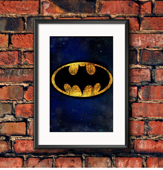 Check out this item in my Etsy shop https://www.etsy.com/ca/listing/538344404/classic-batman-symbol-graffiti-style-dc