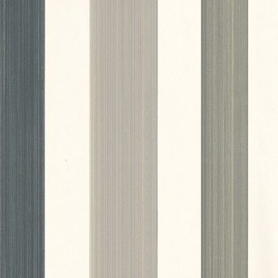 Chromatic Stripe (BP 4201) - Farrow & Ball Wallpapers - An all over, classic striped wallpaper featuring various colours. This trough print is dramatic and can display up to four colours at one time. Versatile and timeless this wallcovering can be hung both horizontally and vertically. Shown here in brown, grey, black and white. Please request a sample for a true colour match.