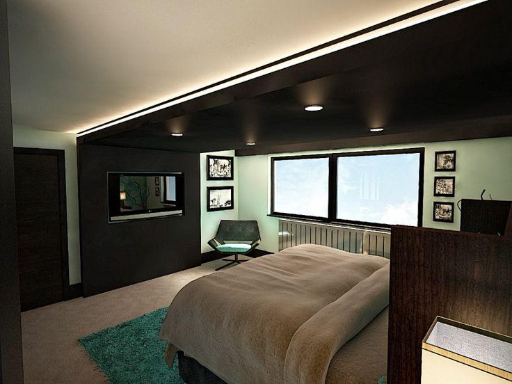 137 best Media Storage\/TV Wall images on Pinterest Tv walls - tv in bedroom ideas