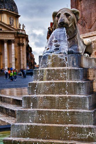 fontana di Piazza del Popolo, Roma - 01