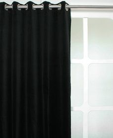 Velours gordijn zwart 17 99 p m for Gordijnen zwart