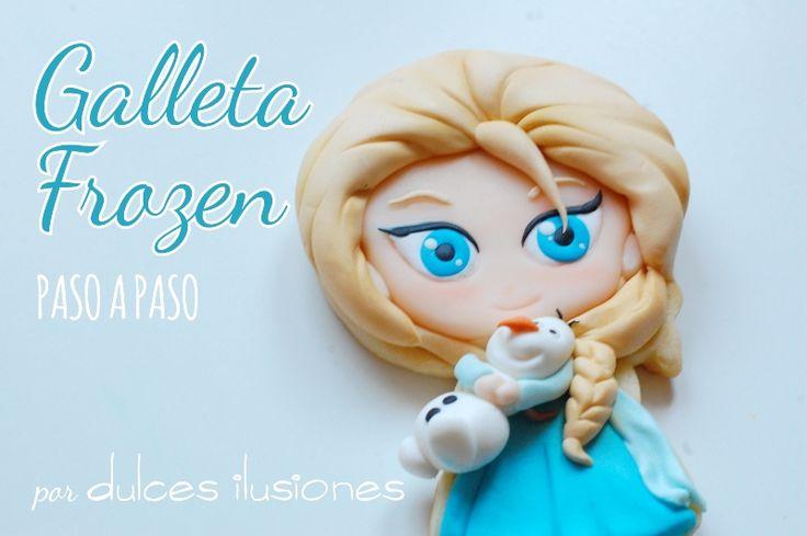 Cómo hacer a Elsa de Frozen en Galletas   Repostería creativa y Tienda online