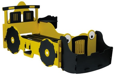 Digger Kids Bed - the coolest bed for any Bob the Builder fan! #kidsbedroom #kidsbed #bobthebuilder #digger