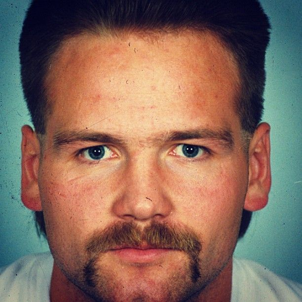 A young Wendel with the sweet 'stache