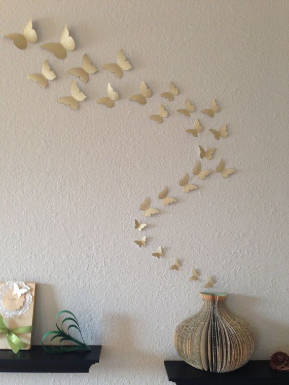 3D Glitter Butterfly Wandkunst. 7 Farben zur von 3DPaperWallArt